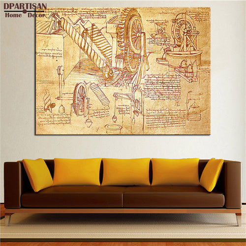 LEONARDO DA VINCI print Wall Decor