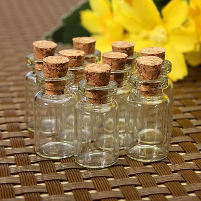 Small Wish Bottle Glass Message- 10pcs/set