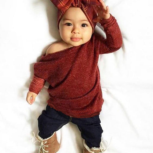 Nice Knitted Baby Clothes Set - 2pcs