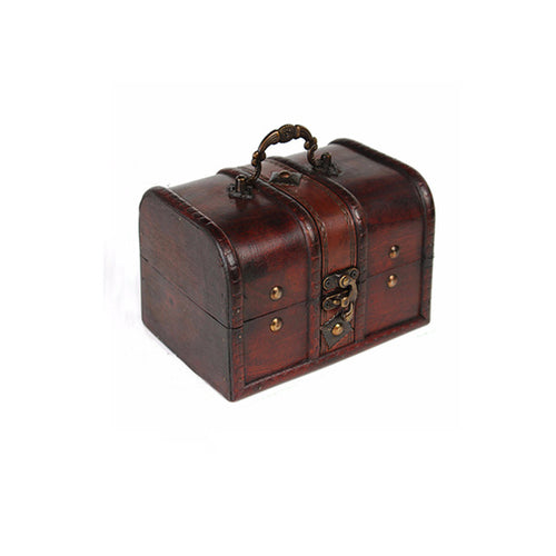 Vintage Wooden Pirate Storage Box