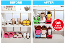 Double-Wide Shoe Holder Shoe Rack