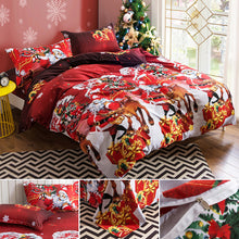 Santa Claus Colorful Bedding Set