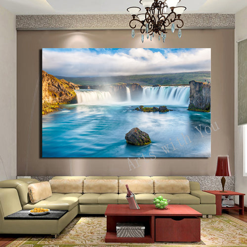 Decorative Art Waterfall Oil Painting