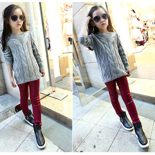 Warm Thick Kid Pencil Pants