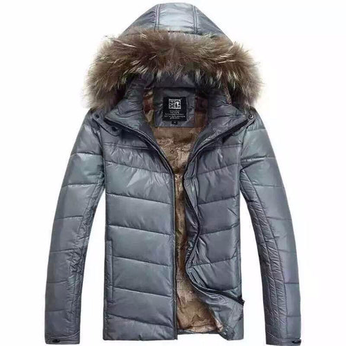 Winter Solid Men Thick Jacket