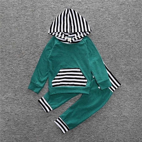 Cutie Baby Long Sleeve Hooded Set