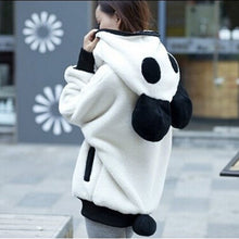 Fluffy Panda Ear Women Hoodies