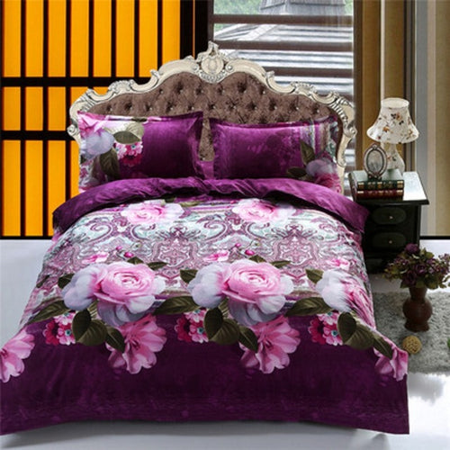 Romantic 3D Rose Flower Bedding Set