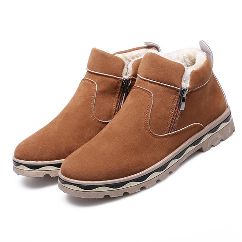 Winter Velvet Ankle Men Snow Boots