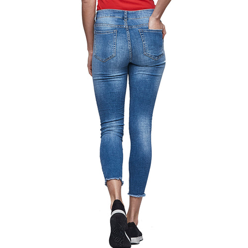 Women's Ankle-Length Stretch Jeans