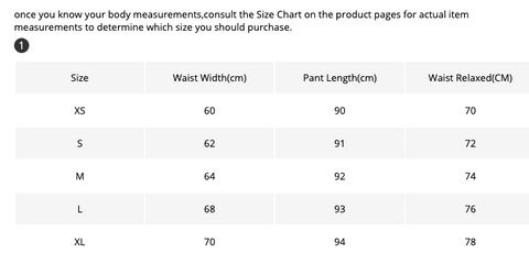 Sizing info - Pioneer Retail