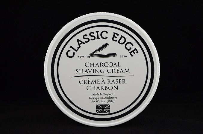 Classic Edge Charcoal Shaving Cream, Made in England