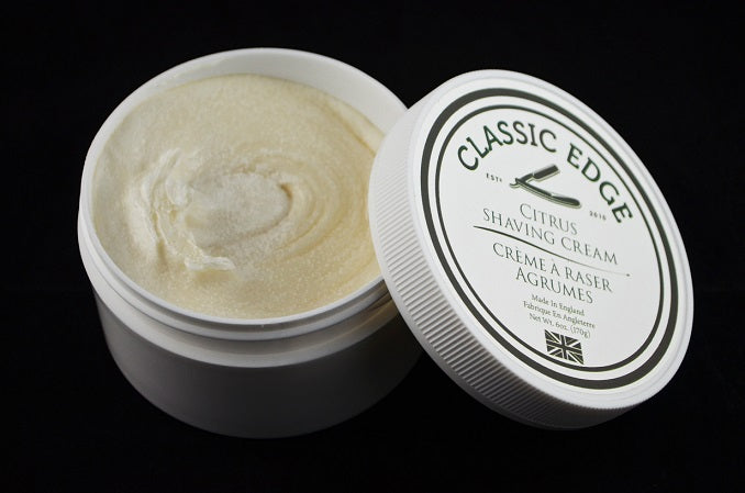 Classic Edge Citrus Shaving Cream, Made in England