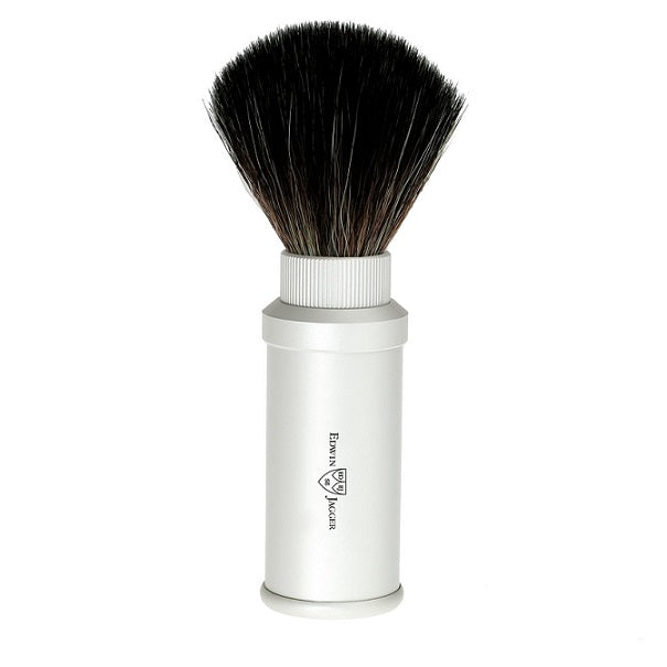 Edwin Jagger Silver Travel Synthetic Shaving Brush