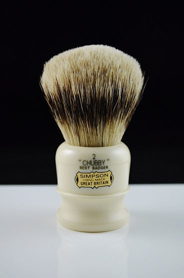 Simpsons Chubby CH2 Best Badger Shaving Brush