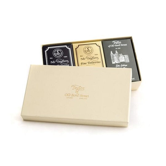 Taylor of Old Bond Street 3 Variety Pack Bath Soaps in Gift Box