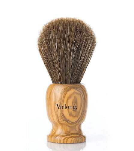Vie-Long Horse Hair Shaving Brush, Olivewood Handle