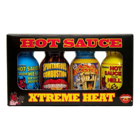 Xtreme Heat Mini Bottle Hot Sauce 4-Pack