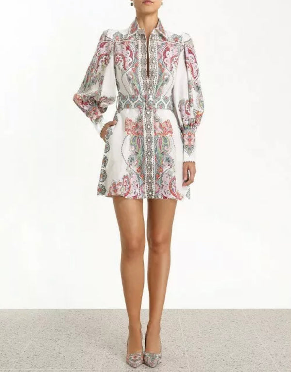 ZIMMERMAN NINETY SIX SHIRT DRESS