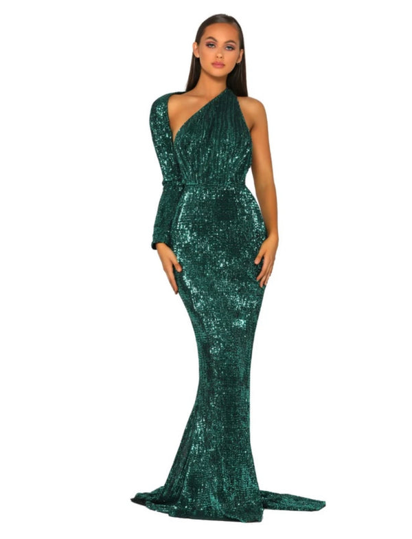 CEC THE LABEL - AVA GOWN EMERALD