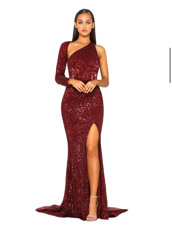 CEC THE LABEL - AVA GOWN RED