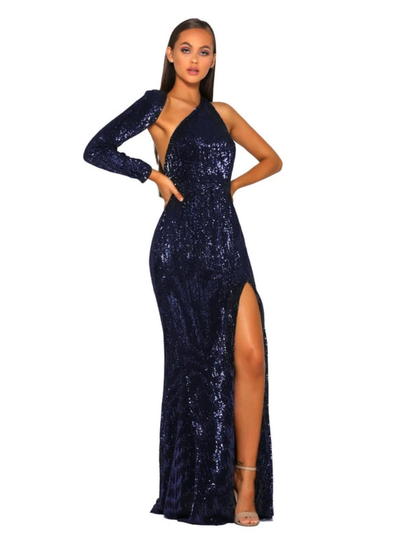CEC THE LABEL - AVA GOWN NAVY