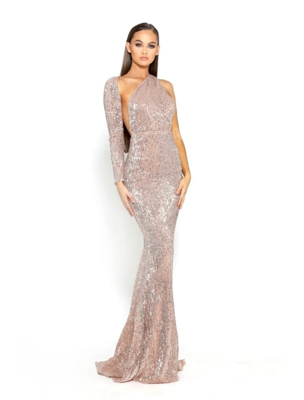 CEC THE LABEL - AVA GOWN CHAMPAGNE