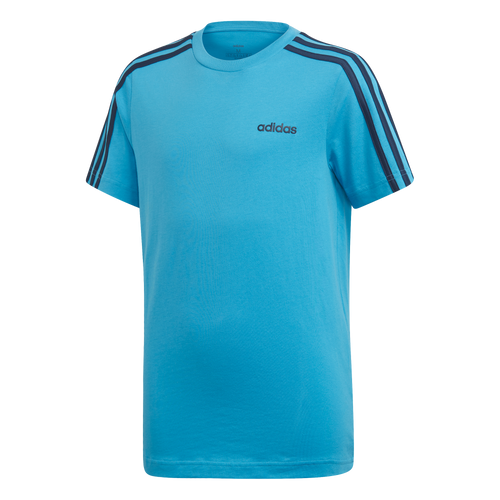 Adidas 3 stripe Tee - youth Blue