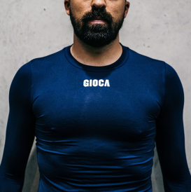 GIOCA Compression Top Navy Blue