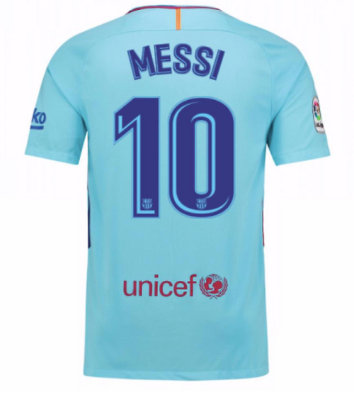 Nike Barcelona Away Jersey - Youth - Messi 10