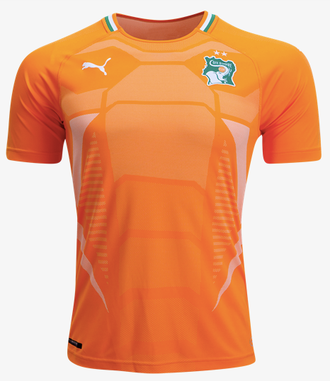 Puma Ivory Coast Home Replica Jersey 2018 - Adult