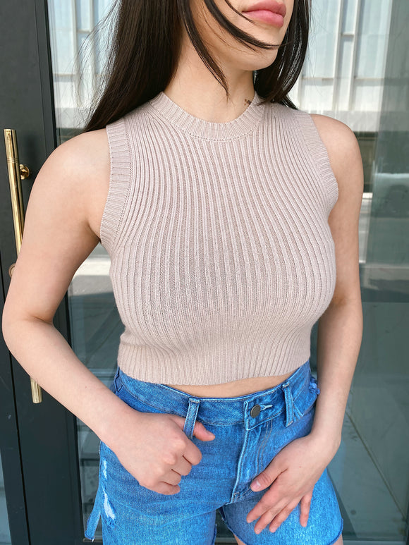 Me Gusta Knit Top Taupe