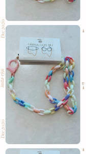 Colorful Girl Mask Chain