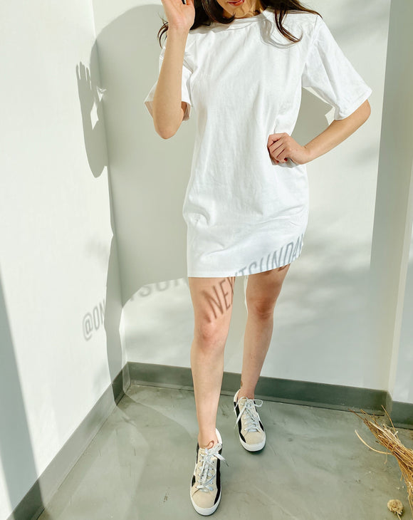Jessa White T-Shirt Dress