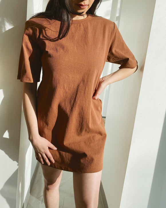 Jessa Mocha T-Shirt Dress