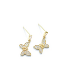 Pave Butterfly Earrings