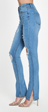 Slit Denim