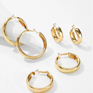 Golden Hoops Set