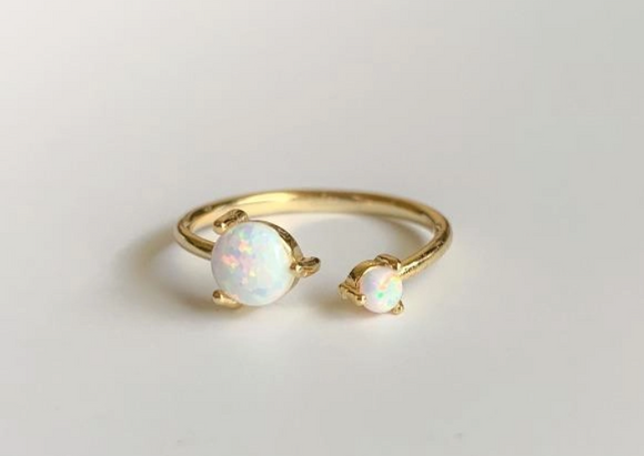 Big & Little Opal Ring