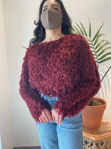 Wine Fluffy Top