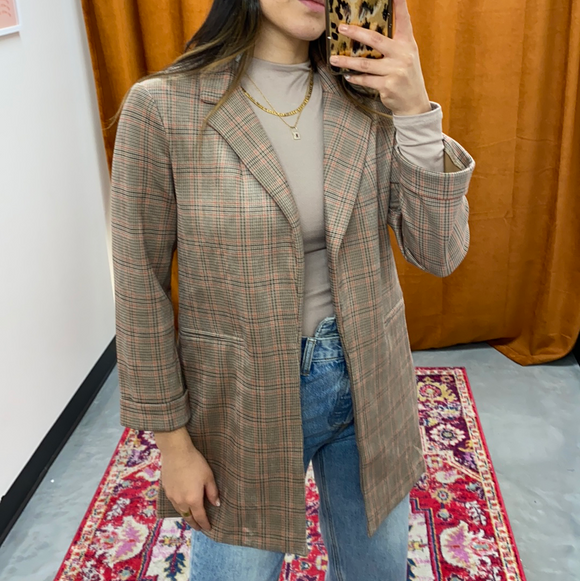 Phoebe Plaid Blazer