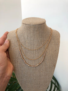 Rose Bead Multi-Layered Necklace