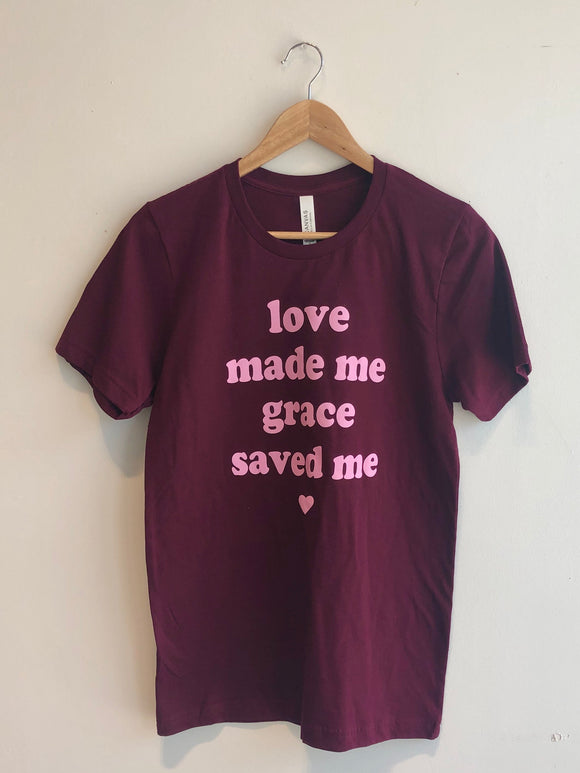 Grace Saved Me Tee
