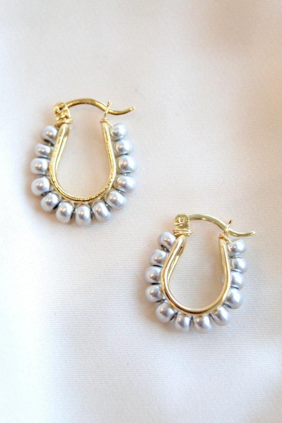 On The Rise Beaded Hoops