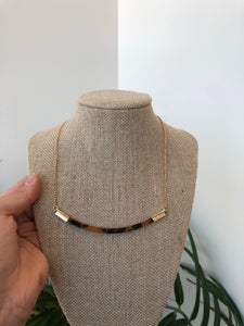 Brown Tortoise Bar Necklace