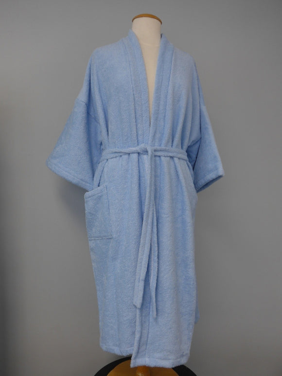 Blue Terry-Patient Robes-Bathroom-Health Care
