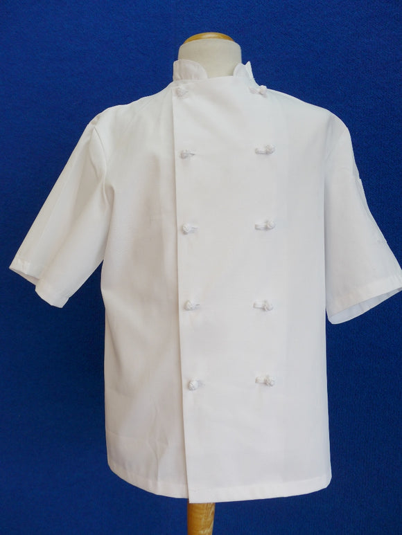 Chef Coat with knot buttons short sleeve