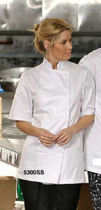 chef wear-Premium Uniforms 5300SS Short Sleeve Chef Coat with plastic buttons