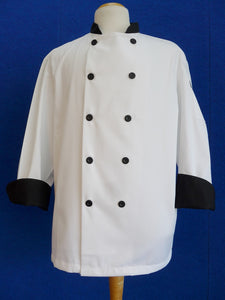 G-721-B chef coat black trim