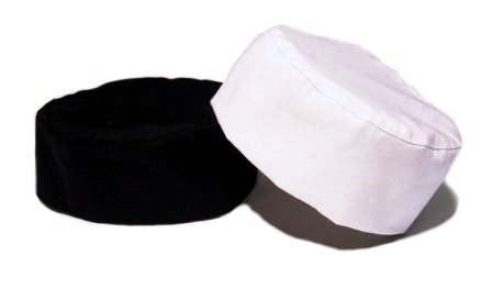 chef hats-chef wear-Black and White Chef Skull Caps
